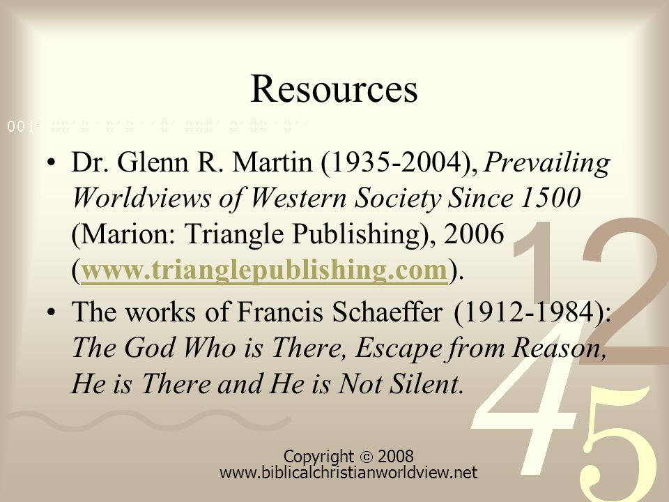 Resources Dr. Glenn R.