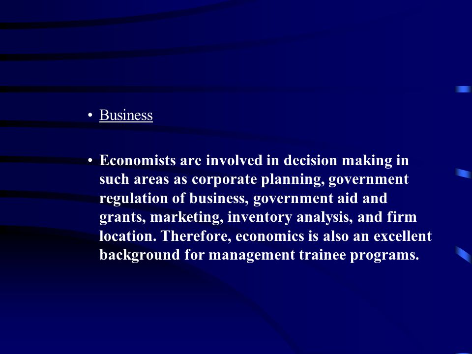 C.Economics Requirements - Minimum of 30 credits.–1.