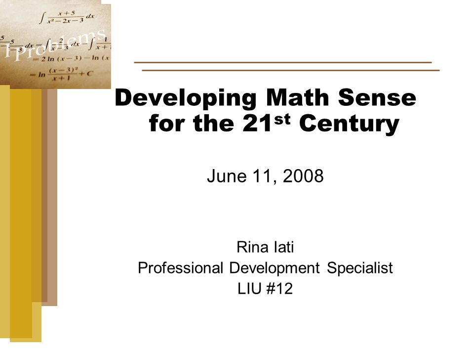 Developing Number Concepts and Number Sense