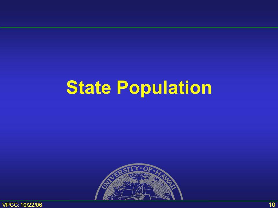 VPCC: 10/22/06 10 State Population