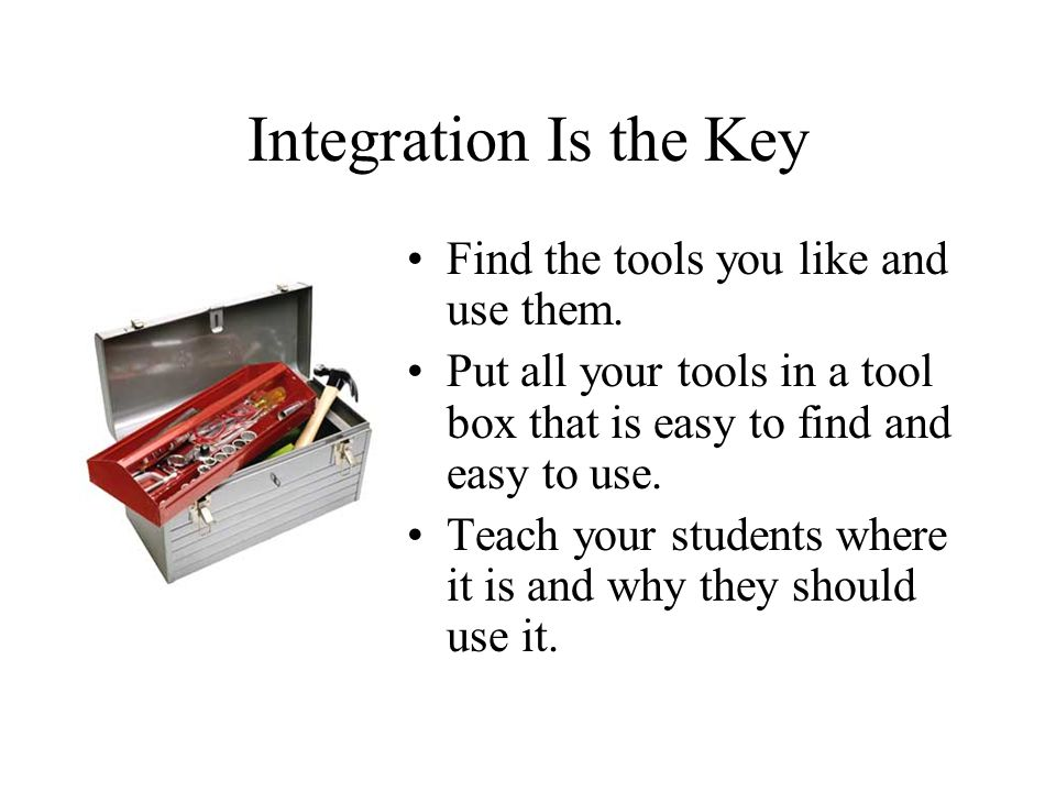 Building a Class Web Site Find the right tool box.