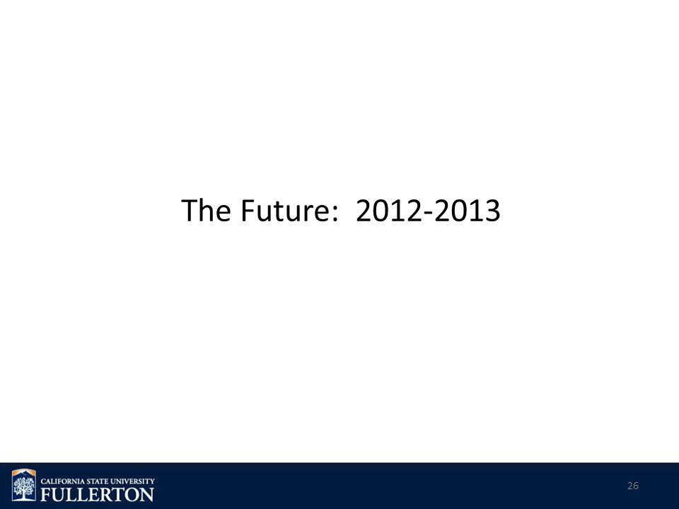 The Future: 2012-2013 26