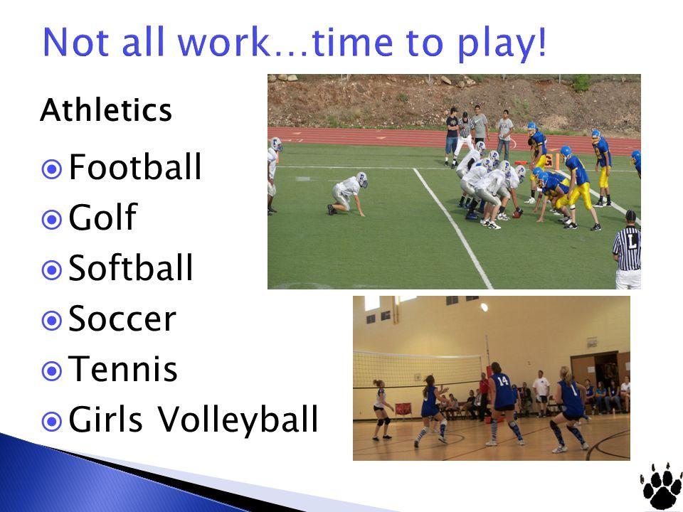 Athletics  Football  Golf  Softball  Soccer  Tennis  Girls Volleyball