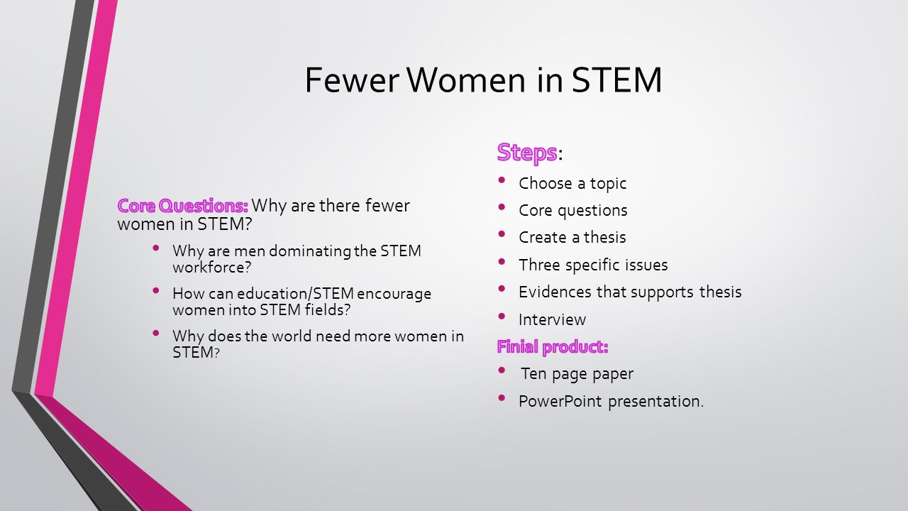 Fewer Women in STEM