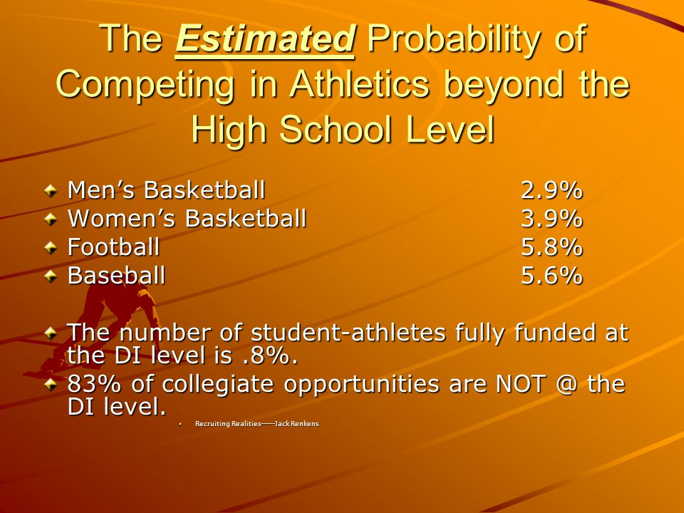 Selecting an Athletic Program Funding –Meals –Equipment –Strength and conditioning –Facilities