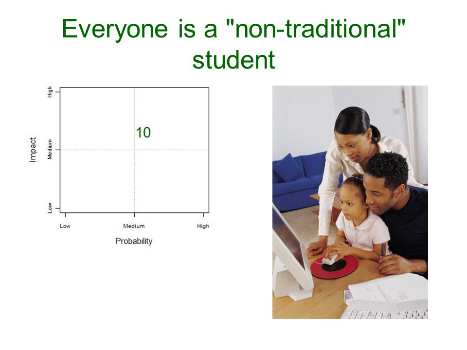 Everyone is a non-traditional student