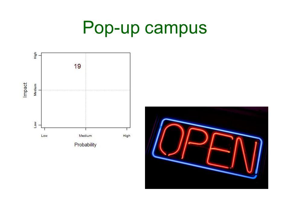 Pop-up campus