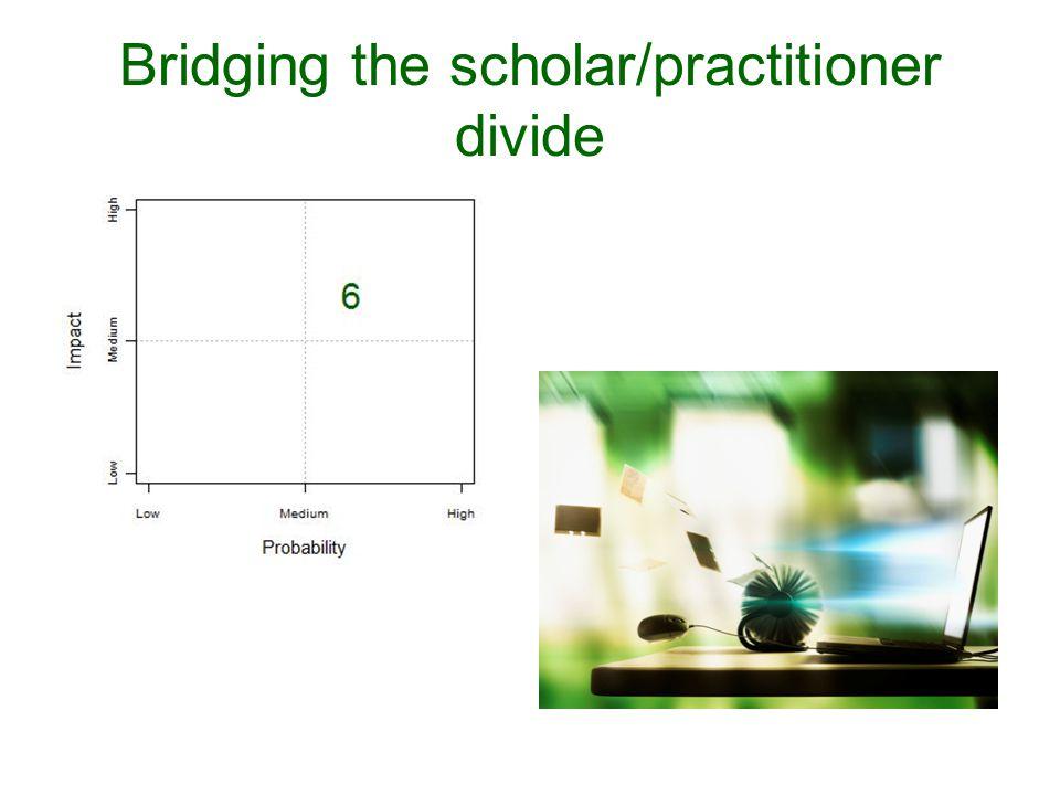 Bridging the scholar/practitioner divide