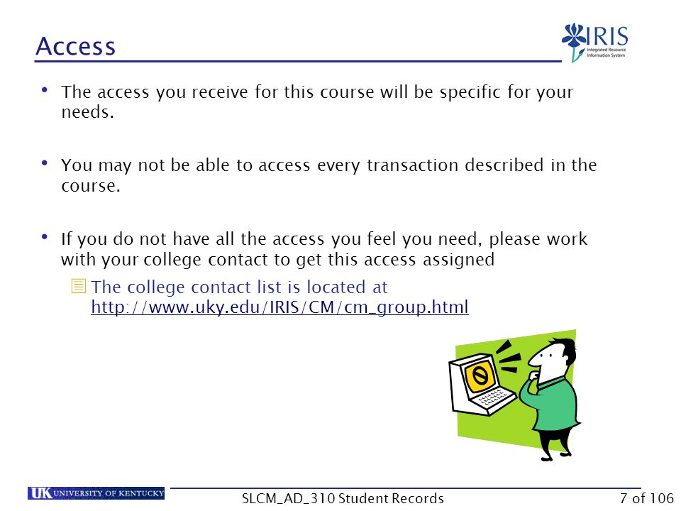 Summary Accessing PIQST00 FERPA Warning Navigation Between Student File and Student Master Data 38 of 106SLCM_AD_310 Student Records