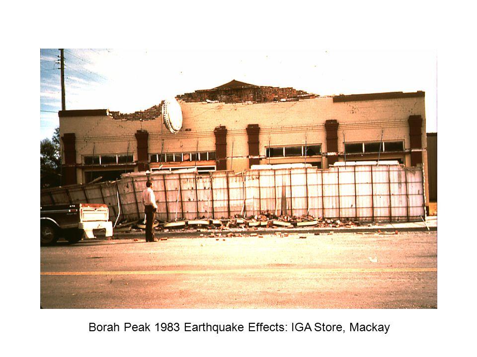 Borah Peak 1983 Earthquake Effects: IGA Store, Mackay