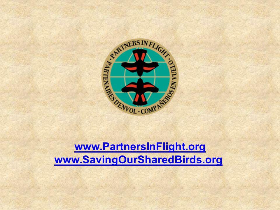 www.PartnersInFlight.org www.SavingOurSharedBirds.org