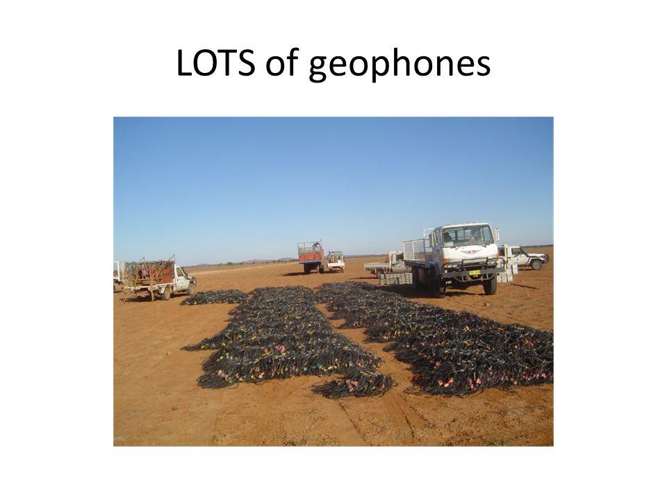 LOTS of geophones