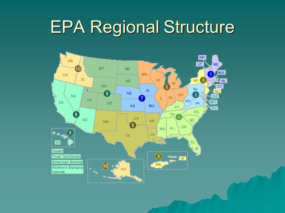 EPA Regional Structure