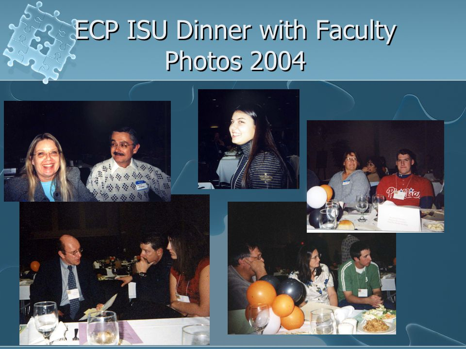 ECP ISU Dinner with Faculty Photos 2004