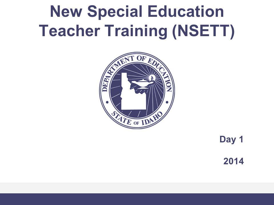 New Special Education Teacher Training (NSETT) Day 1 2014