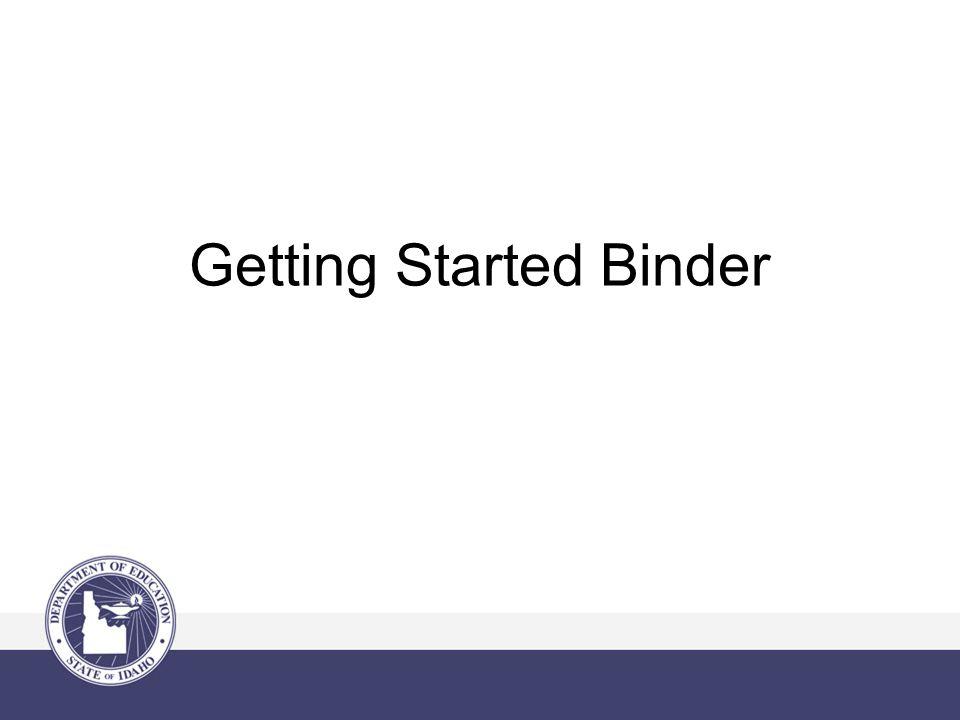 Getting Started Binder