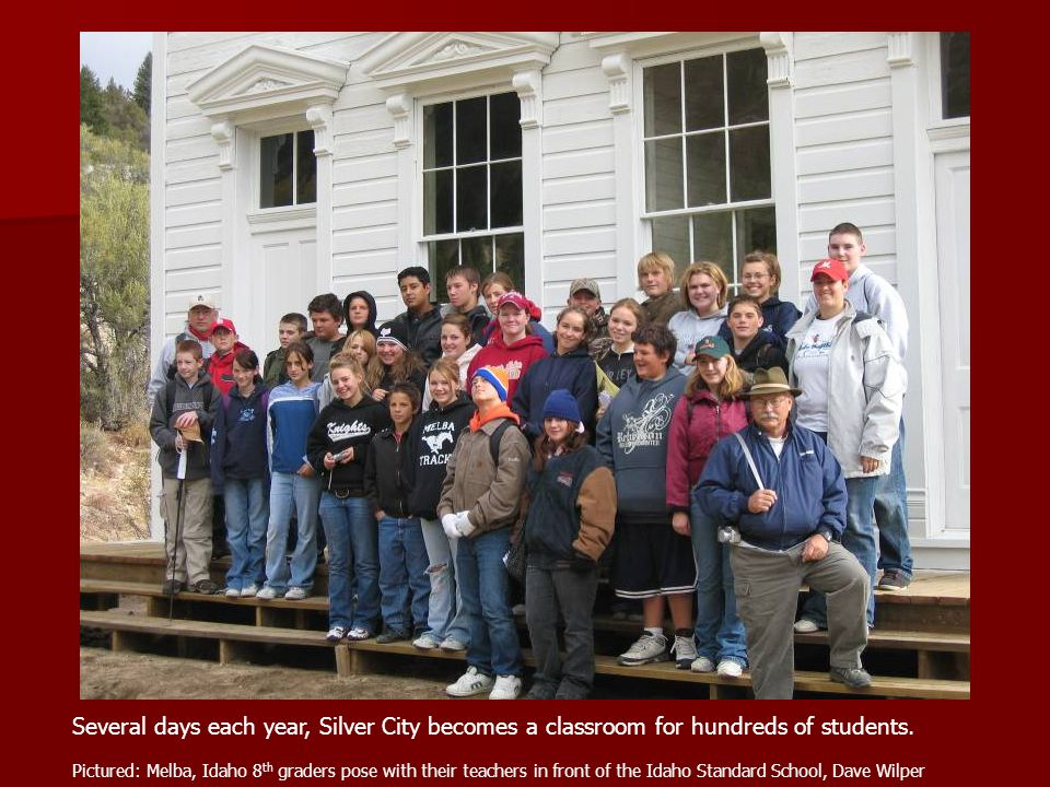 Several days each year, Silver City becomes a classroom for hundreds of students.
