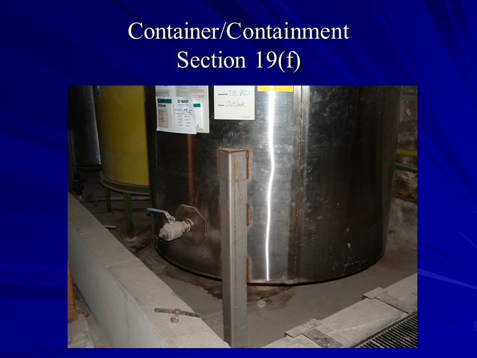 Container/Containment Section 19(f)