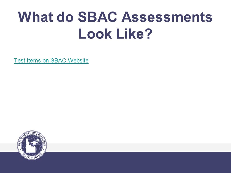 What do SBAC Assessments Look Like Test Items on SBAC Website