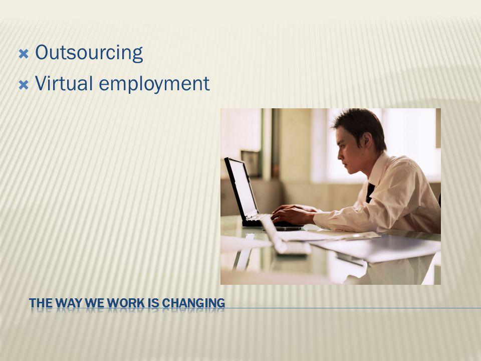  Outsourcing  Virtual employment