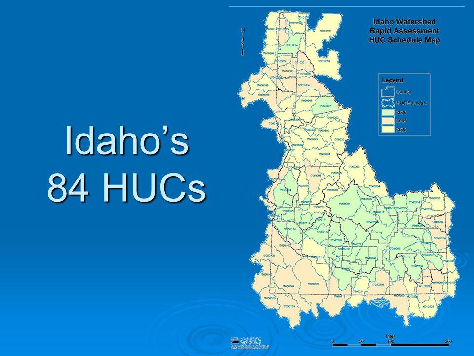 Idaho's 84 HUCs