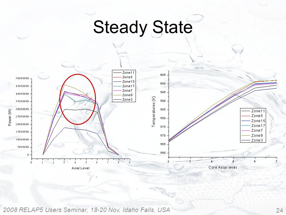 2008 RELAP5 Users Seminar, 18-20 Nov, Idaho Falls, USA 24 Steady State
