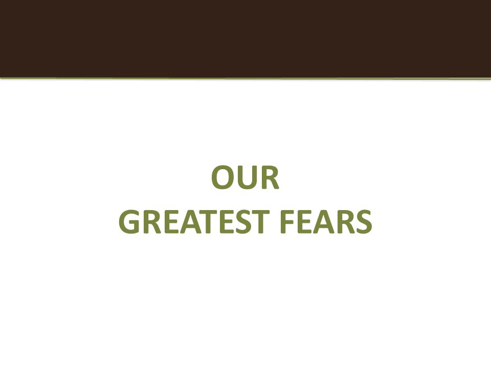 OUR GREATEST FEARS