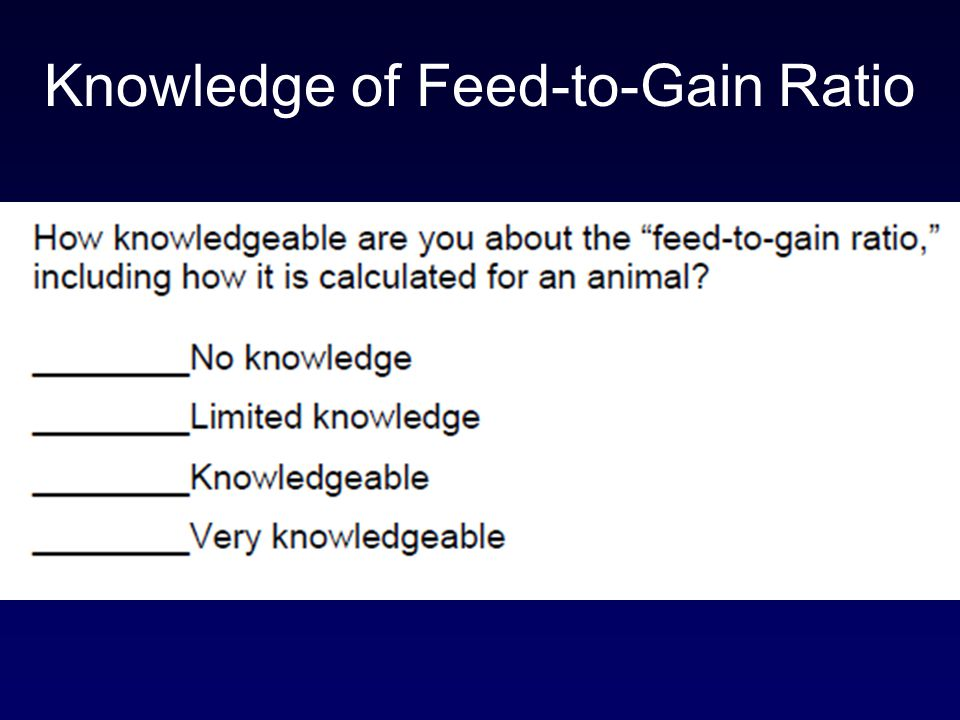 Knowledge of Feed-to-Gain Ratio