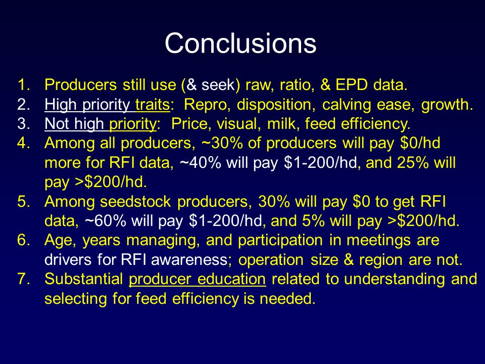 1.Producers still use (& seek) raw, ratio, & EPD data.