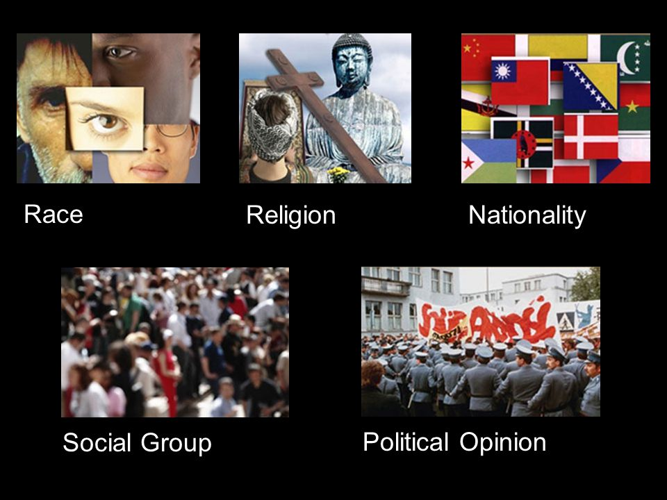 Race ReligionNationality Social Group Political Opinion