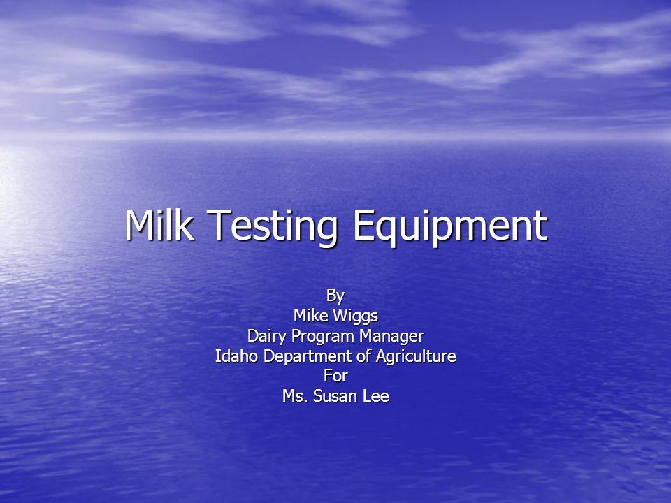 Milk Testing Equipment