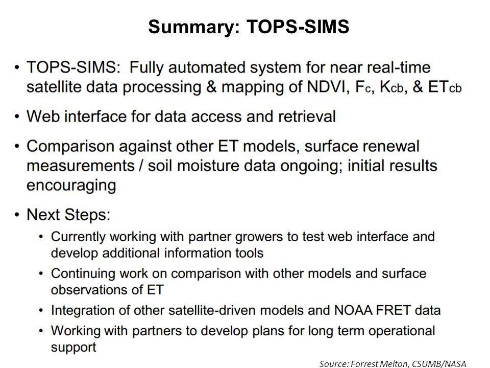 Summary: TOPS-SIMS