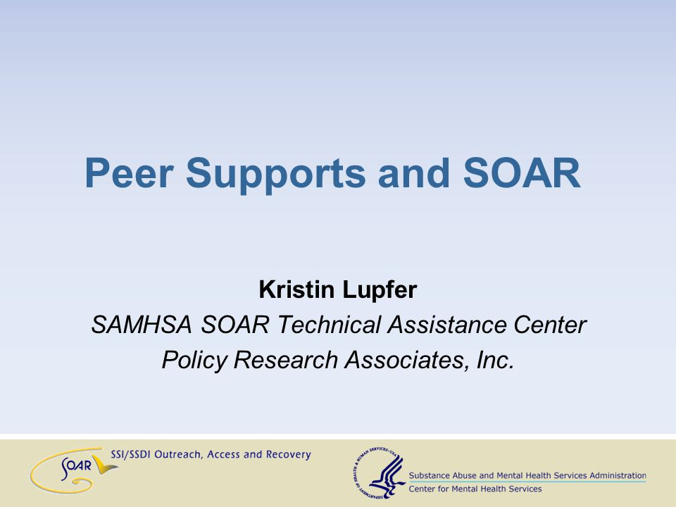 Who provides peer supports.