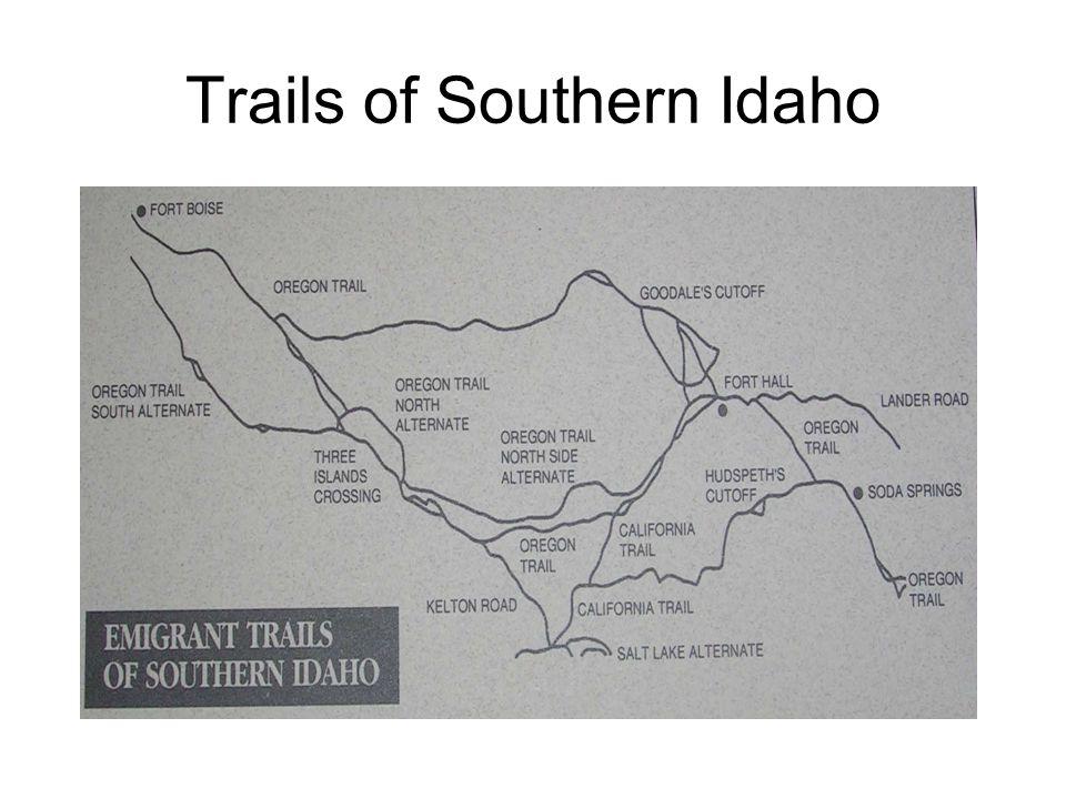 Trails into and through Cassia County, Idaho
