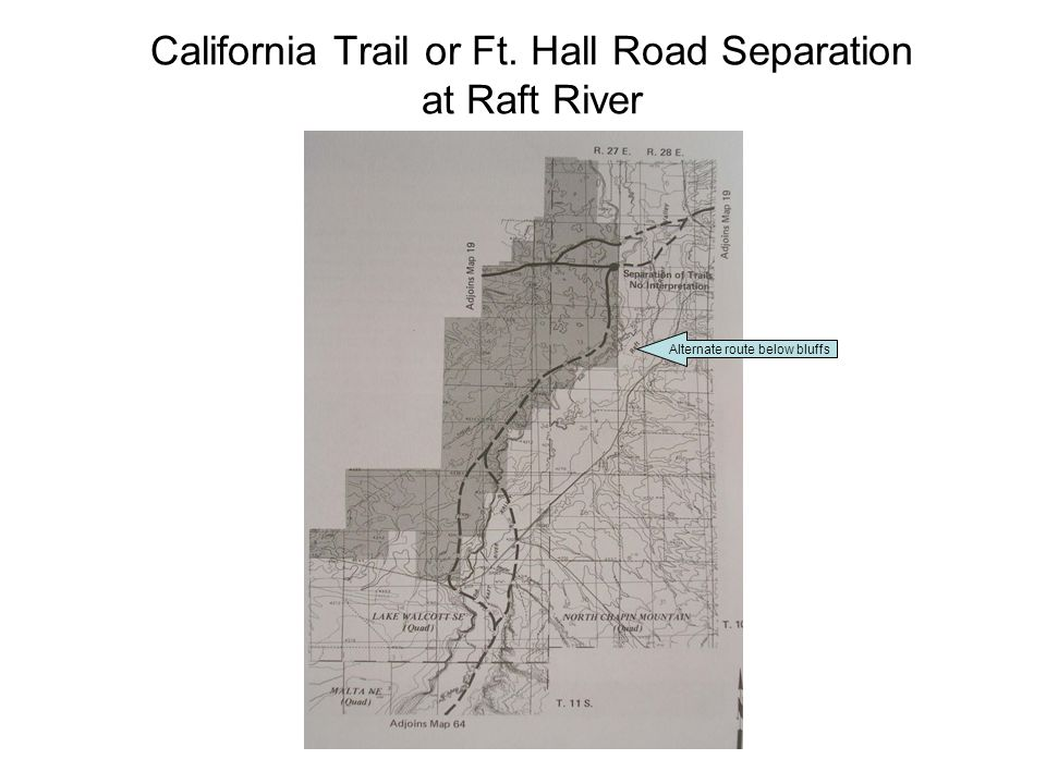California Trail or Ft. Hall Road Separation at Raft River Alternate route below bluffs