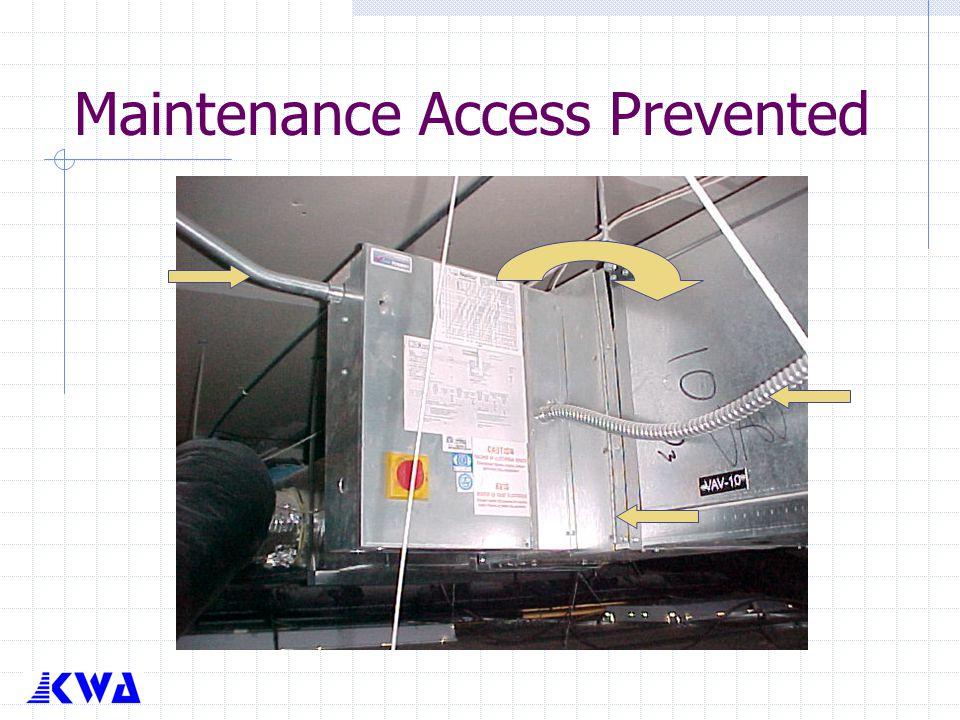 Maintenance Access Prevented