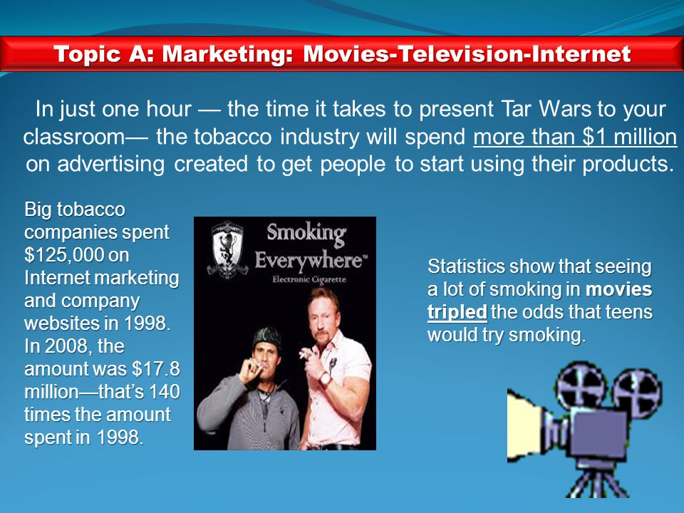 Activity 6: Discover and Discuss Topic A:Marketing Tobacco Topic B:Flavored and Emerging Products and Smokeless Tobacco Topic C:What's in a Cigarette.