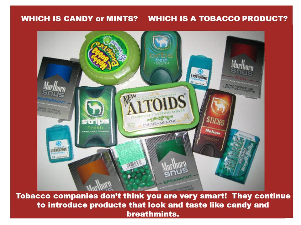Topic B: Flavored, Emerging & Smokeless Products Tobacco companies are always trying to expand their business.