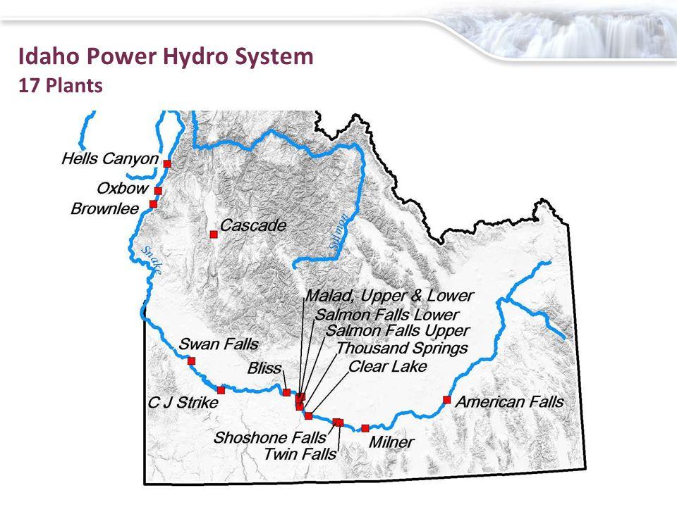 Idaho Power Hydro System 17 Plants