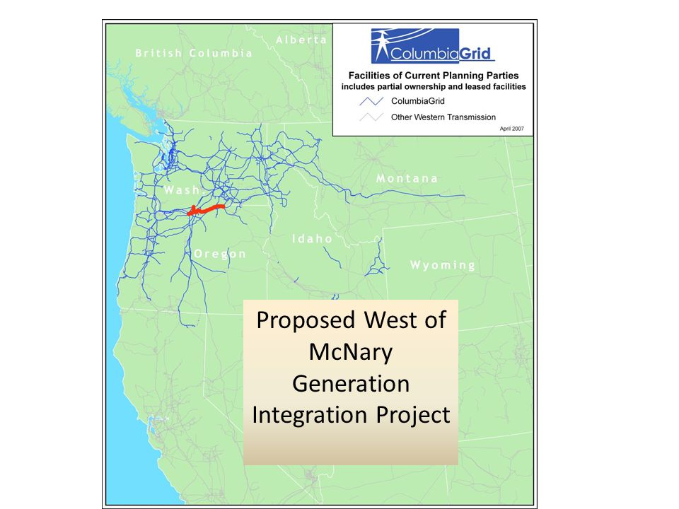Proposed West of McNary Generation Integration Project