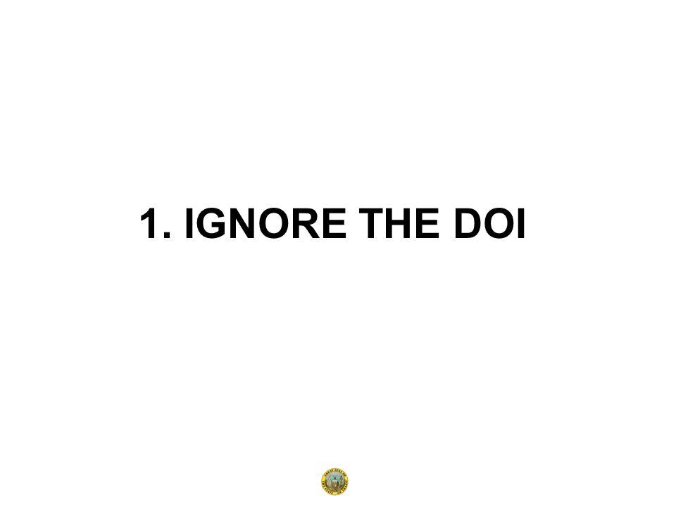 1. IGNORE THE DOI