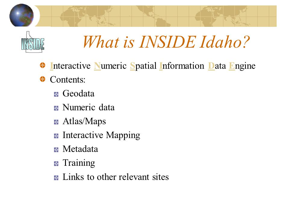 What is INSIDE Idaho.