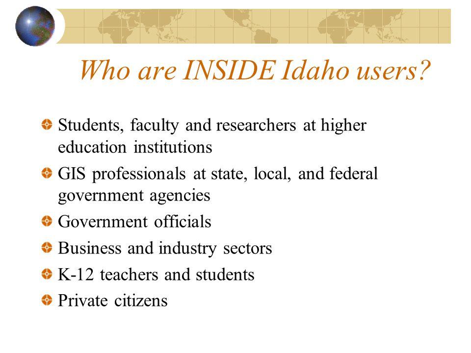 Who are INSIDE Idaho users.