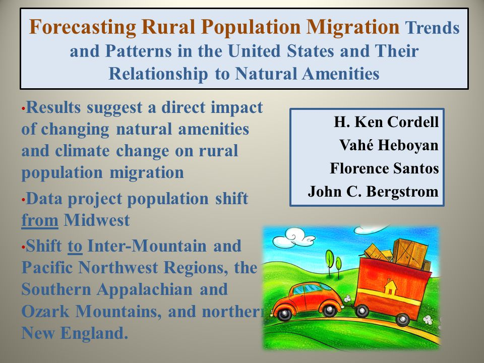Forecasting Rural Population Migration Trends and Patterns in the United States and Their Relationship to Natural Amenities H.