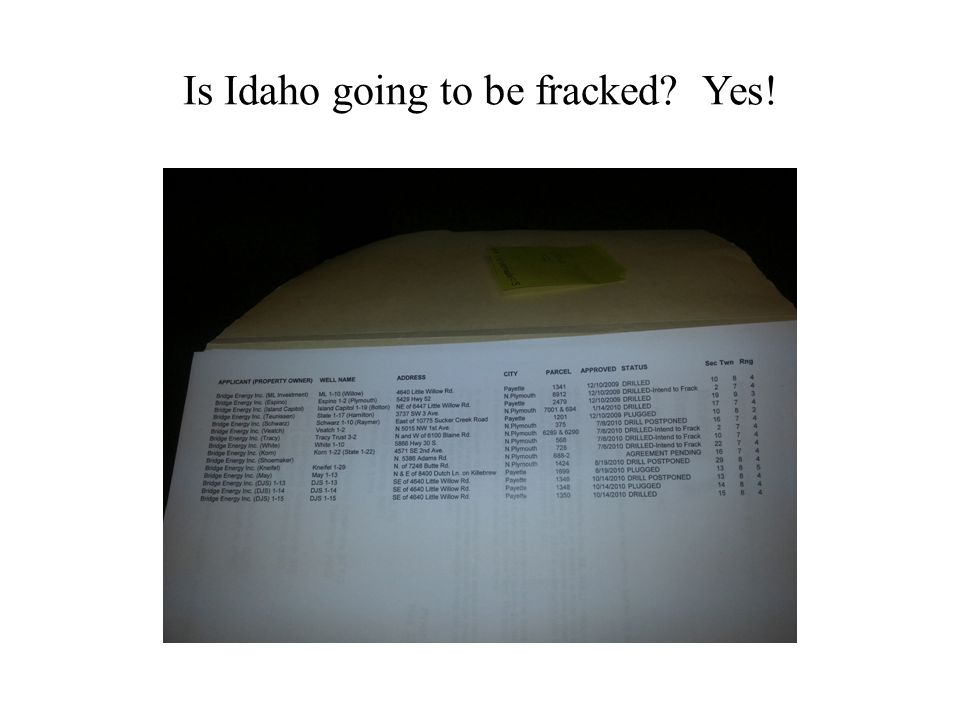 Is Idaho going to be fracked? Yes!