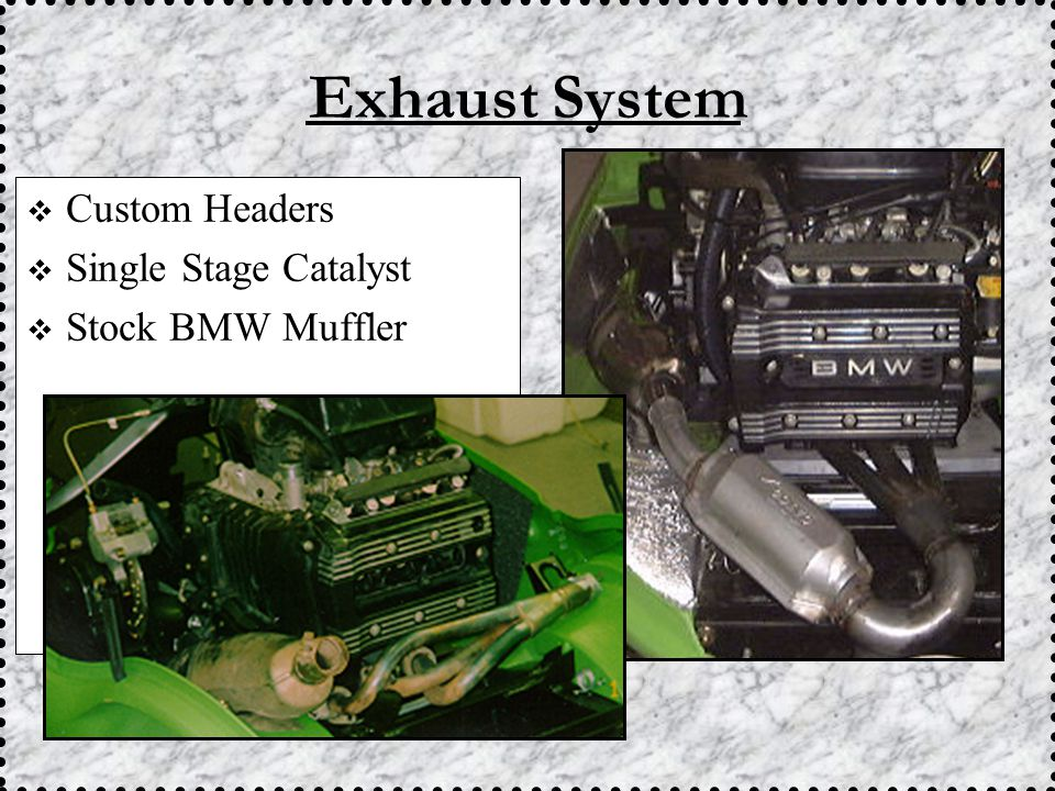  Custom Headers  Single Stage Catalyst  Stock BMW Muffler Exhaust System