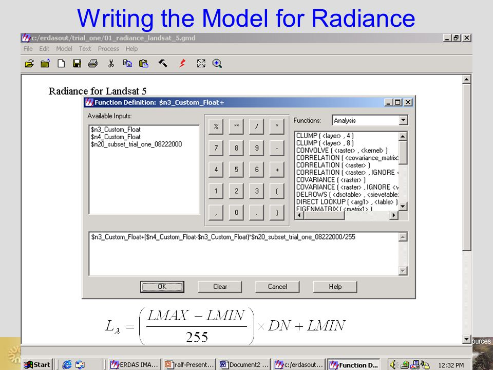 Writing the Model for Radiance