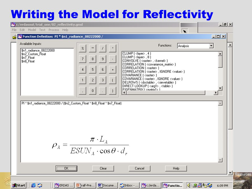 Writing the Model for Reflectivity