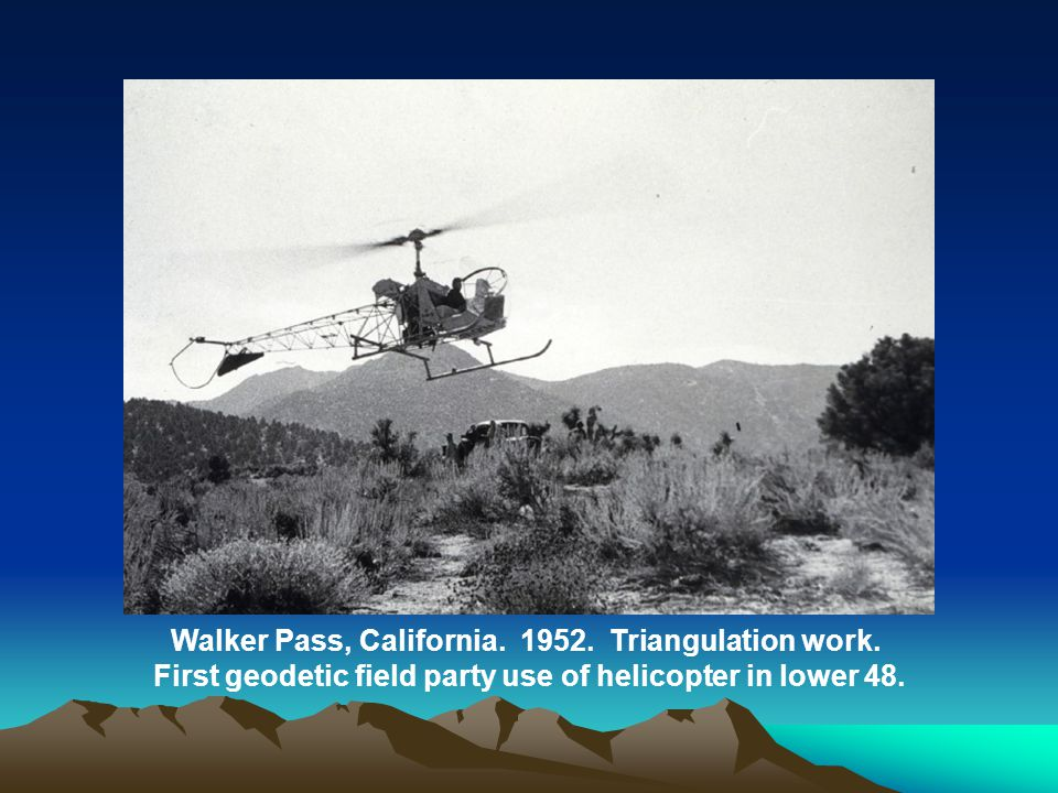 Walker Pass, California.1952. Triangulation work.