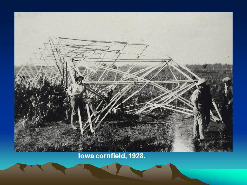 Iowa cornfield, 1928.
